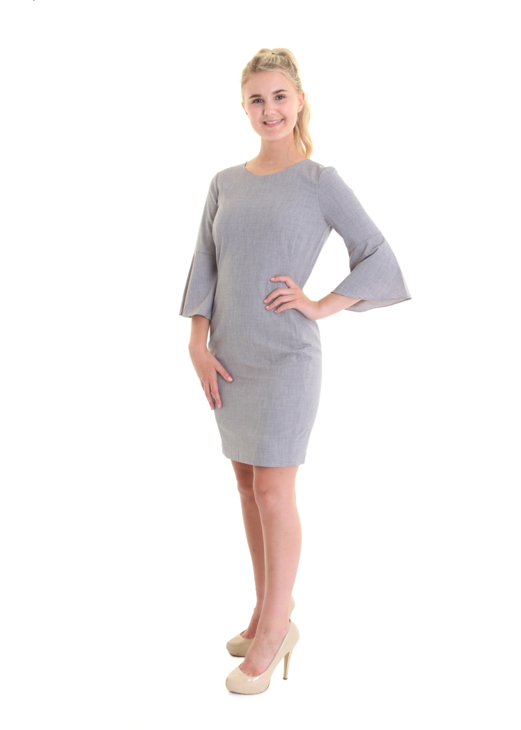 grey wide sleeved dress 149.95